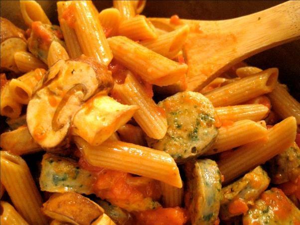 Sausage and Mushroom Penne, Pasta Lezat ala Italia