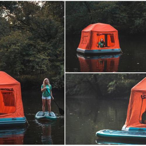 Shoal Tent, Inovasi Unik Buat yang Ingin Rasakan Sensasi Berkemah di Atas Air!