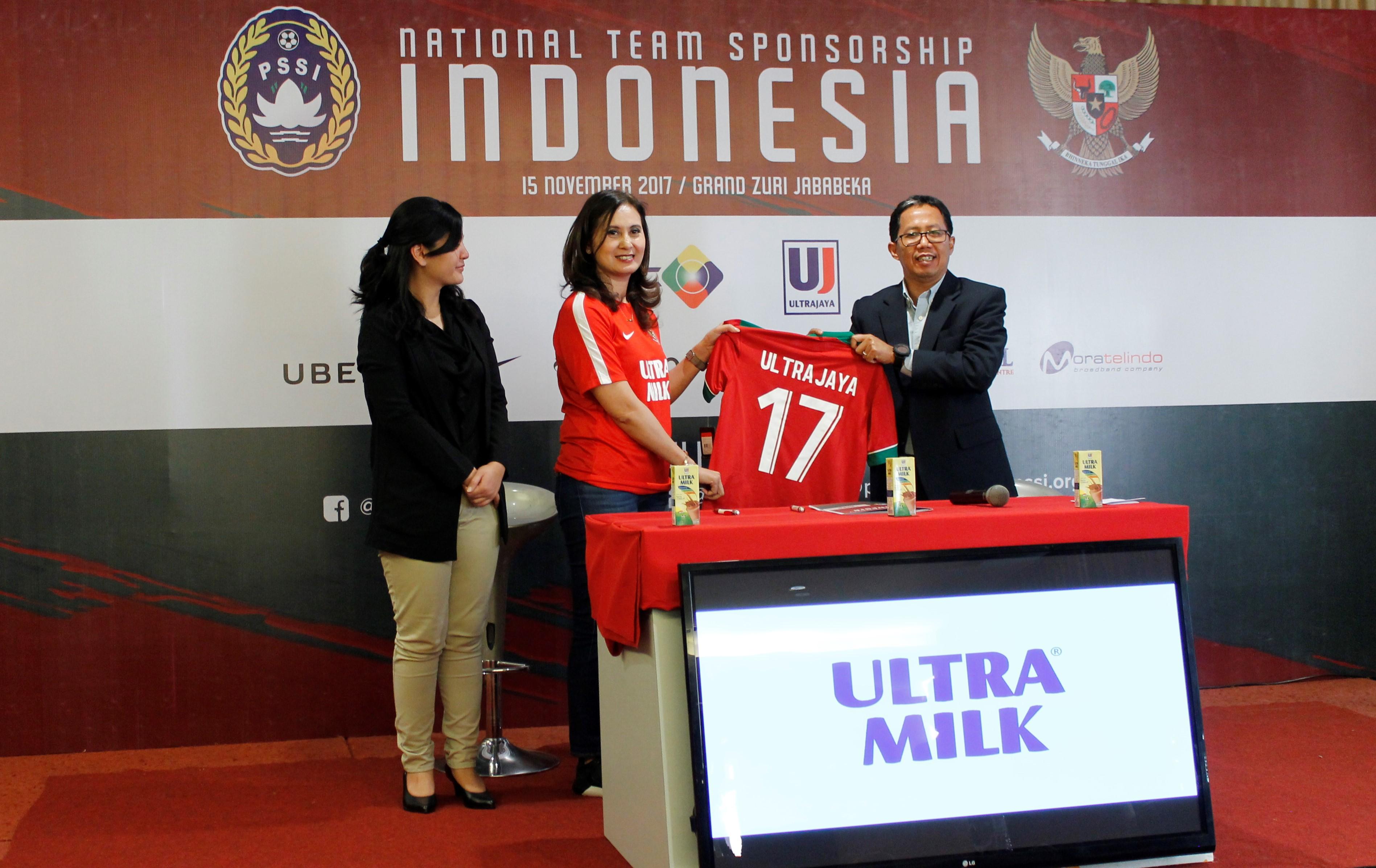 Ultra Milk, Sponsor Resmi Tim Nasional Indonesia