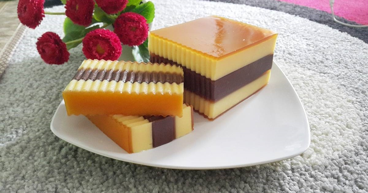 Resep Spesial Puding Cokelat Susu Lapis Legit