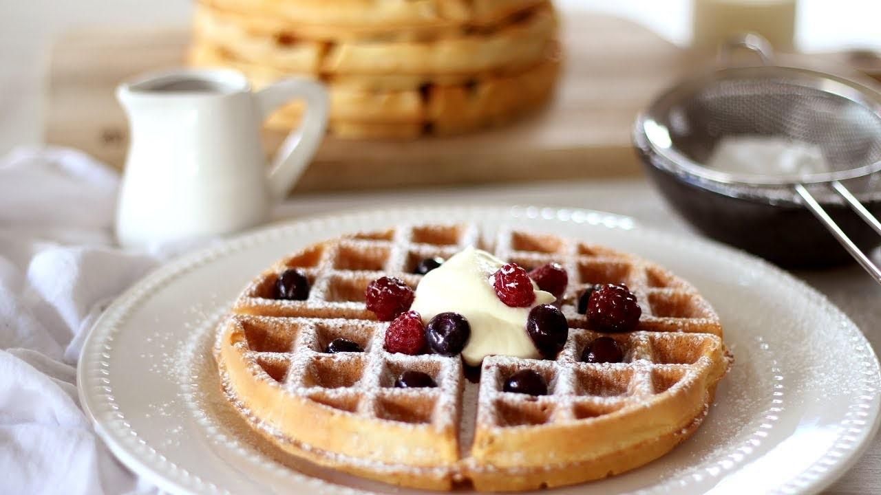 Belgian Waffle Susu UHT, Lezat dan Sehat!